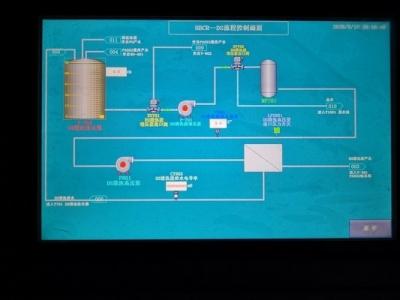 天津海水淡化水处理plc变频器柜触摸屏画面